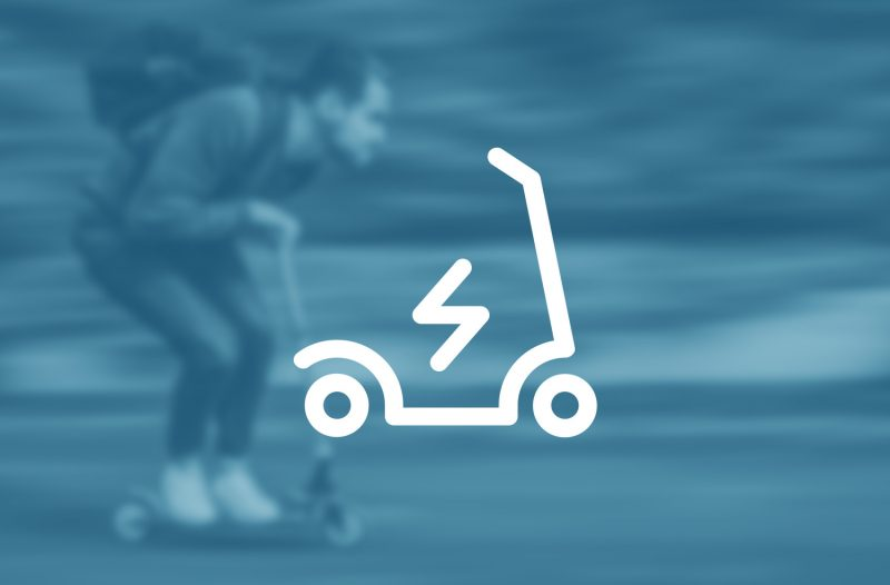 e-scooter im Rollen